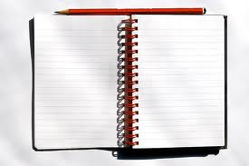 writing notebook blank